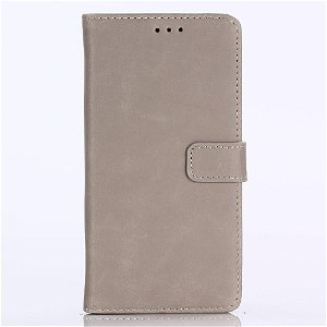 Huawei P20 Lite (2018) Skinn Deksel m. Lommebok - Grå