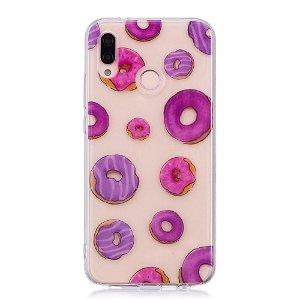 Huawei P20 Lite (2018) TPU Plast Deksel Donuts Gjennomsiktig
