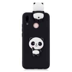 Huawei P20 Lite (2018) Deksel 3D Shy Panda - Svart