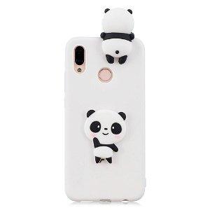 Huawei P20 Lite (2018) Deksel 3D Shy Panda - Hvit