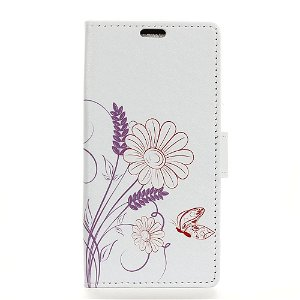 Huawei P30 Pro Skinndeksel med Lommebok Butterfly And Flower