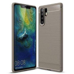 Huawei P30 Pro Plastdeksel m. Karbonutseende - Grå