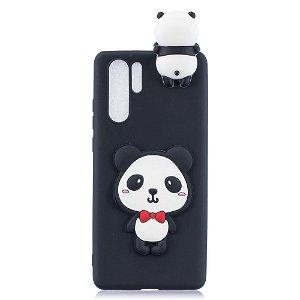 Huawei P30 Pro Fleksibel Plastik Deksel 3D Cute Panda