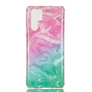 Huawei P30 Pro Fleksibelt Marmor Deksel Pink / Grønn