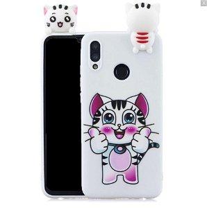 Huawei P Smart (2019) / Huawei Honor 10 Lite Fleksibel Plastik Deksel 3D Cat