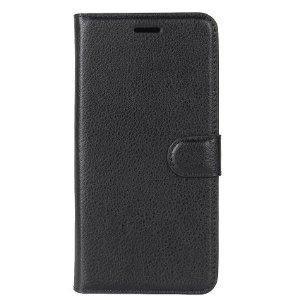 Huawei P30 Lite Skinn Flip Deksel med Lommebok - Svart