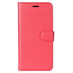 Huawei P30 Lite Skinn Flip Deksel med Lommebok - Rød