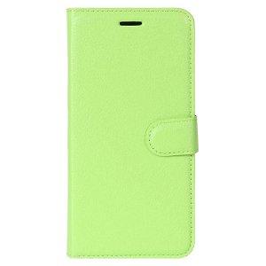 Huawei P30 Lite Skinn Flip Deksel med Lommebok - Grønn