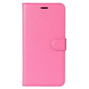 Huawei P30 Lite Skinn Flip Deksel med Lommebok - Rosa
