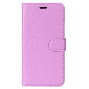 Huawei P30 Lite Skinn Flip Deksel med Lommebok - Lilla
