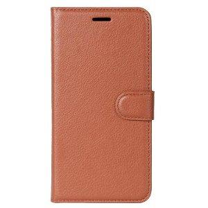 Huawei P30 Lite Skinn Flip Deksel med Lommebok - Brun