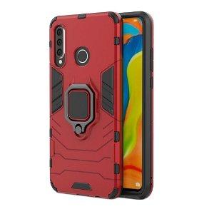 Huawei P30 Lite Håndverkerdeksel med Stativfunksjon Rød