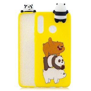Huawei P30 Lite Fleksibel Plastik Deksel 3D Panda