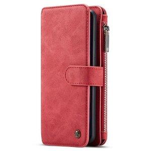 Huawei P30 Lite Skinn Flip Deksel med Kortholder - CASEME 2 in 1 - Rød