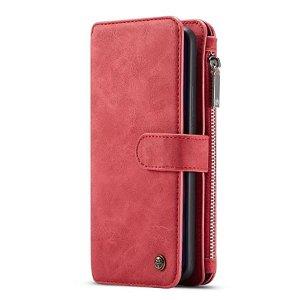 Huawei P30 Pro CASEME 2-in-1 Vintage Skinndeksel med Lommebok Rød