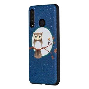 Huawei P30 Lite Fleksibel Plastik Deksel - Owl & Moon