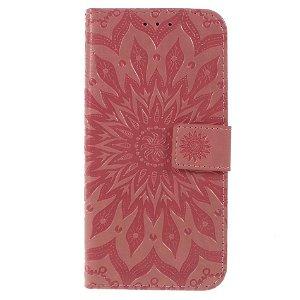 Huawei P Smart (2019) / Huawei Honor 10 Lite Skinn Flip Deksel m. Lommebok - Mandala Mønster Pink