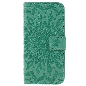 Huawei P Smart (2019) / Huawei Honor 10 Lite Skinn Flip Deksel m. Lommebok - Mandala Mønster Grønn