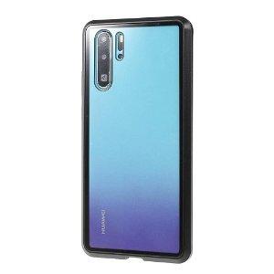 Huawei P30 Pro Magnetisk Metallramme m. Glass For- og Bakdeksel - Svart