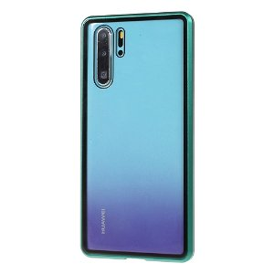 Huawei P30 Pro Magnetisk Metallramme m. Glass For- og Bakdeksel - Grønn