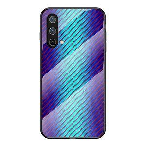 OnePlus Nord CE (5G) Deksel med Glassbakside - Blå Carbon