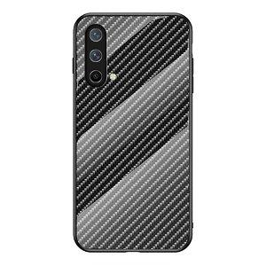 OnePlus Nord CE (5G) Deksel med Glassbakside - Svart Carbon