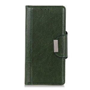 OnePlus Nord 2 (5G) Klassisk PU Skinn Deksel med Lommebok - Grønn