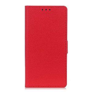 OnePlus Nord 2 (5G) Enkelt PU Skinn Deksel med Lommebok - Rød