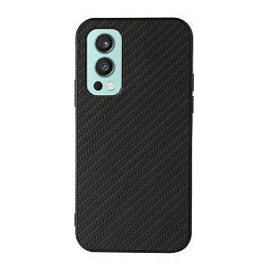 OnePlus Nord 2 (5G) Plast & Kunstskinn Deksel - Svart Karbon