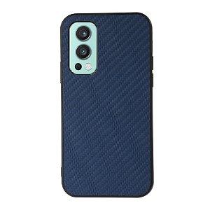 OnePlus Nord 2 (5G) Plast & Kunstskinn Deksel - Blå Karbon