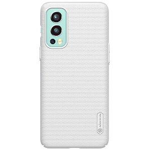 OnePlus Nord 2 (5G) NILLKIN Frosted Shield Deksel m. Stativ - Hvit