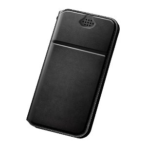 Universal DUX DUCIS Leather Deksel Svart - (Maks. Mobil: 165 x 85 x 10 mm)