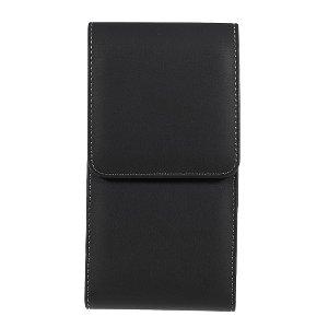 Universell Oxford Cloth Skinn Belteveske til Smarttelefon - XXL - Svart - (Maks. Mobil: 160 x 80 x 16 mm)