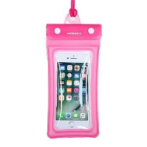 MOMAX Waterproof Airpouch Pink - Maks Mobil str. 150 x 76 mm