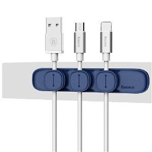 Baseus Peas Magnetisk Kabel Klips Holder - Blå