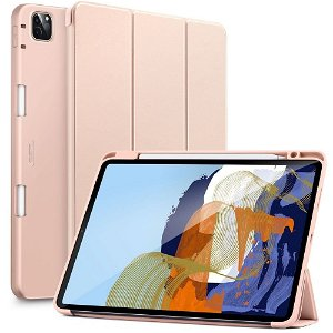 iPad Pro 11 (2021 / 2020 / 2018) ESR Rebound Deksel Med Apple Pencil Holder - Rose Gull