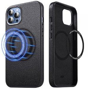 iPhone 13 Pro Max ESR Metro HaloLock Skinn Deksel - MagSafe Kompatibel - Svart