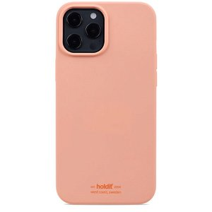 Holdit iPhone 12 Pro Max Soft Touch Silikon Deksel - Pink Peach