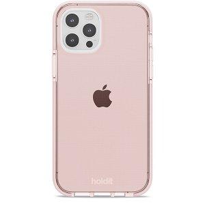 Holdit iPhone 12 / 12 Pro Seethru Deksel - Blush Pink