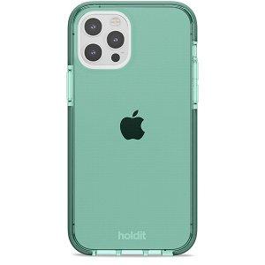Holdit iPhone 12 / 12 Pro Seethru Deksel - Moss Green