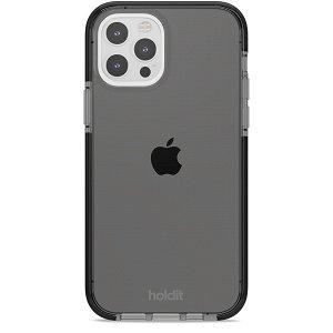 Holdit iPhone 12 / 12 Pro Seethru Deksel - Svart