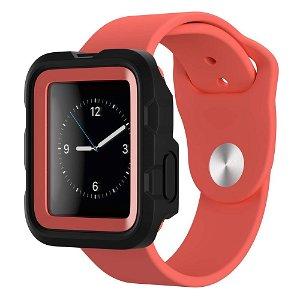 Apple Watch (42mm) Griffin Survivor Tactical Deksel - Svart / Rød