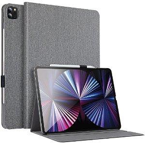 "iPad Pro 11"" (2021 / 2020 / 2018) Deksel - ESR Urban Premium Series Slim Book w. Apple Pencil Holder - Grå"