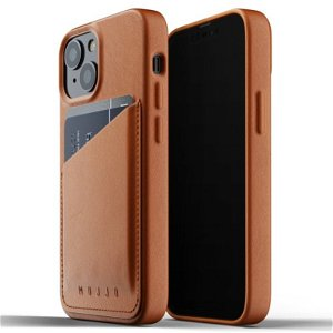 Mujjo iPhone 13 Mini Vegan Leather Wallet Deksel - Brun