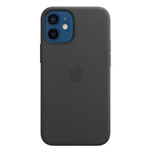 Original Apple iPhone 12 Mini Skinn MagSafe Deksel Svart (MHKA3ZM/A)