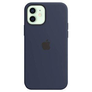 Original Apple iPhone 12 | 12 Pro Silikon MagSafe Deksel Blå (MHL43ZM/A)