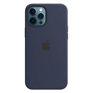 Original Apple iPhone 12 Pro Max Silikon MagSafe Deksel Blå (MHLD3ZM/A)