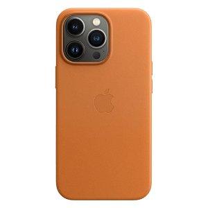 Original Apple iPhone 13 Pro Ekte Skinndeksel Magsafe Golden Brown (MM193ZM/A)