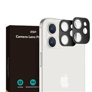 iPhone 12 Mini ESR Beskyttelses Glass til Kameralinse - 2-pak - Sort