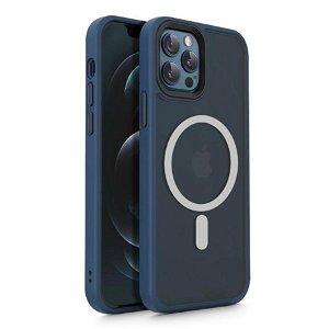 iPhone 12 / 12 Pro Tech-Protect Magmat Bagside Cover - MagSafe Kompatibel - Mat Navyblå